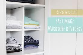 cupboard organiser easy build divider for organised wardrobes