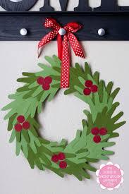 handprint christmas wreath idea red ted art u0027s blog