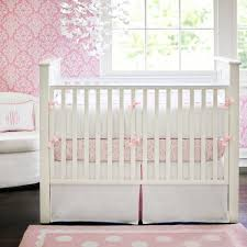 White Nursery Bedding Sets Dreamer White And Pink Crib Bedding Set Rosenberryrooms