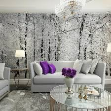 birch tree decor home decor wall papers 3d living room bedroom wall paper snow