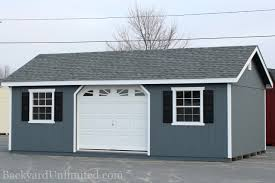 Overhead Shed Doors Garages Large Storage Single Car Garages Backyard Unlimited