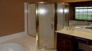 Gold Shower Doors Custom Semi Frameless Gold Shower Enclosure With Aquatex Glass