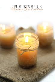 pumpkin spice jar candles she