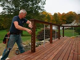 How To Make Handrails For Decks Ultimate Deck Build 2015 Cable Railings Fine Homebuilding