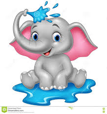 elephant spraying water clipart clipartxtras