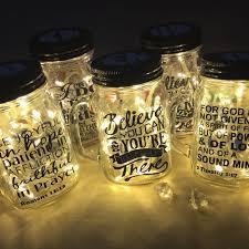 christian personalised mason jar gifts quote verse proverb niv