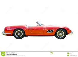 vintage convertible red sports car isolated stock image image of vintage 56779577