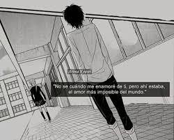 imagenes de amor imposible anime frases anime amino