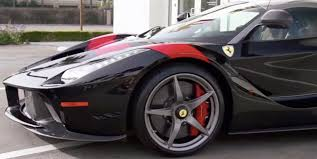bugatti lamborghini ferrari mix laferrari black with red stripe us specs sold cars