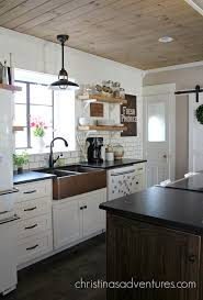 Farmhouse Kitchen Designs Photos Our Copper Sink Black Granite Countertops Black Granite And