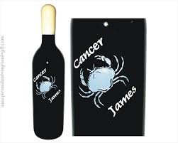 anniversary wine bottles engraved wine bottles horoscope designs