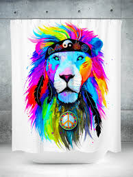 Graphic Shower Curtains by Hippie Lion Shower Curtain U2013 Electro Threads