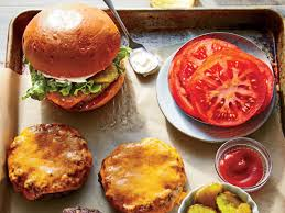 backyard grill stuffed burger press healthy grilled burgers cooking light