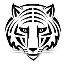 14 6x15cm tiger tribal vinyl decal black silver car