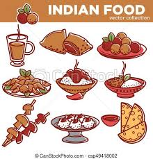 cuisine clipart indian cuisine traditional food dishes vector flat icons vector