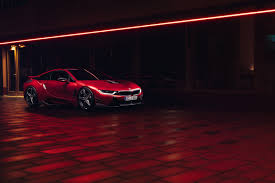 Bmw I8 Red - ac schnitzer drops the bmw i8 to the floor for geneva
