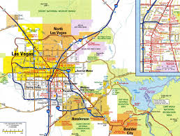 Large Map Of The United States by Large Detailed Road Map Of Las Vegas City With Airports Las
