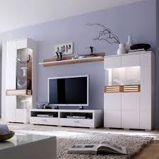 wohnzimmer m bel wohnwand in weiß mit eiche massivholz pharao24 de wunderschöne