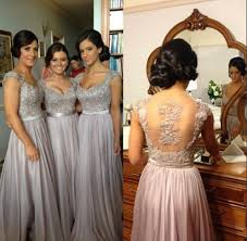 chagne bridesmaid dresses sleeves embroidery beaded ivory pink chagne