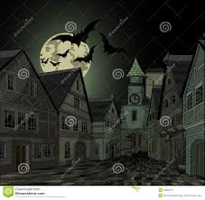spooky night at town royalty free stock photography image 33853757