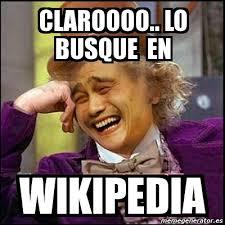 Memes Wikipedia - meme yao wonka claroooo lo busque en wikipedia 4426965