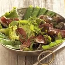cuisiner des pois gourmands recette salade de pois gourmands et canard fumé
