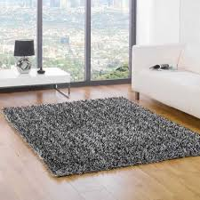 Black And Silver Rug Shaggy Black Rugs Roselawnlutheran