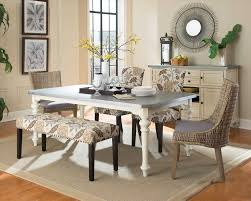 chair end of dining room table with upholstered chairs dining room