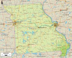 Missouri State Map by Map Of Missouri Travel Map Vacations Travelsfinders Com