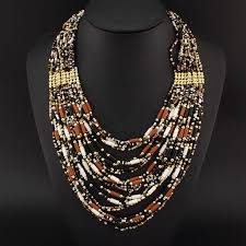 handmade statement necklace images Danfosi party casual women handmade necklaces cylindrical acrylic jpg