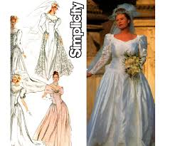 wedding dress patterns 90s plus size wedding dress pattern simplicity 8009 princess