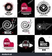 Music Decor by Music Style Logo Icon Templates Music Stock Vector 334230806