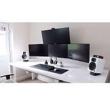 White Computer Desk High Contrast Black And White Computer Desk Office Computers