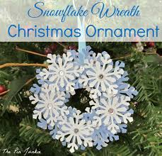 diy paper snowflake wreath ornament snowflake wreath paper