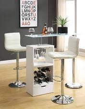 White Pub Table Set - glass bar stools ebay