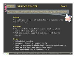 Resume To Fill Up Resume Writing For Students And Freshers