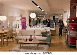Tottenham Court Road Interior Shops Habitat Furniture Store London England Uk Stock Photo Royalty