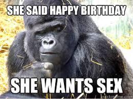 Birthday Sex Meme - she said happy birthday she wants sex misc quickmeme