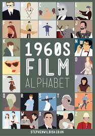 film quiz poster 1960 s film alphabet poster that quizzes your 1960s movie knowledge
