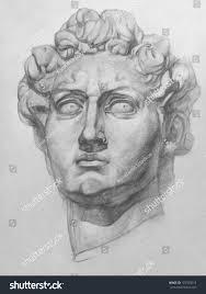 michelangelos david statue plaster replica david stock