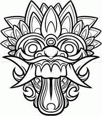 dragon masks color chinese dragon mask drawing draw