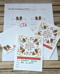 host a christmas cookie exchange party free printables