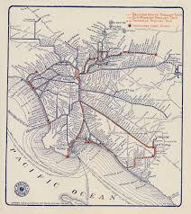 Map Of Los Angeles Area Beaches by Balloon Route Trolley Trip Busy Beaver Button Museum