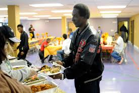 churches provide food companionship at pre thanksgiving meals