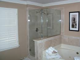 tub with glass shower door glass bathtub shower doors u2014 farmhouse design and furniture