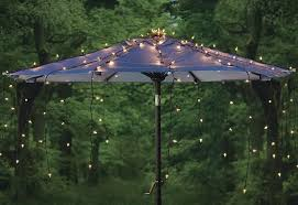 Patio Umbrella String Lights Outdoor Patio Umbrella With Solar String Lights Patio Design
