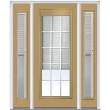 mmi door 64 in x 80 in internal blinds and grilles left hand