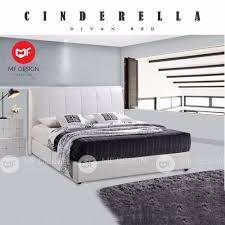 mf design mf design cinderella size divan bed frame katil lazada