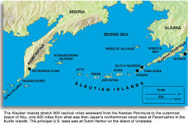 map of aleutian islands thousand mile war