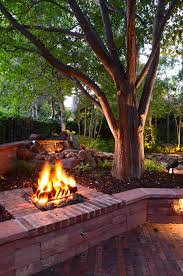 Brick Fire Pits by Pit Fire Landscape Traditional With Brick Fire Pit Stone Wall